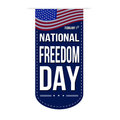 National Freedom Day banner design Royalty Free Stock Photo