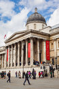 The national gallery london april exterior of in trafalgar square on th april houses british collection of Royalty Free Stock Image