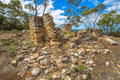 National heritage places coal mines ruins historic site c saltwater river tasmanian peninsula tasmania australia for years this Royalty Free Stock Images