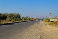 National highway february gujarat india in gujarat between ahmedabad and porbandar Stock Photos