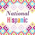 National hispanic heritage month, celebrate annual in united states, geometric decoration background Royalty Free Stock Photo