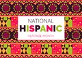 National Hispanic Heritage Month celebrated from 15 September to 15 October USA. Latino American ornament vector Royalty Free Stock Photo