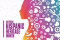 National Hispanic Heritage Month. Holiday concept. Template for background, banner, card, poster with text inscription Royalty Free Stock Photo