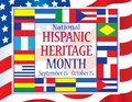 National Hispanic Heritage Month September 15 - October 15 Royalty Free Stock Photo