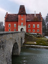 National historic landmark cervena lhota castle is one of the most beautiful fairytale castles in bohemia romantic image of red Royalty Free Stock Images