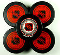 National Hockey League pucks Royalty Free Stock Photography