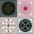 National Indian ornaments squares Royalty Free Stock Photo