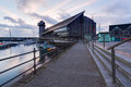 National maritime museum dawn at discovery quay with the falmouth in the background Royalty Free Stock Photography