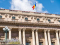 The national military circle cercul militar national in bucharest downtown on victory avenue was built by architect dimitrie Royalty Free Stock Photo