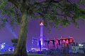 National monument with night sky under at jakarta indonesia Royalty Free Stock Image