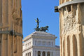 National monument to victor emmanuel ii fragment venice square in rome Royalty Free Stock Photography
