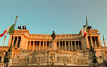 The National Monument to Victor Emmanuel II, Rome, Italy. Royalty Free Stock Photo