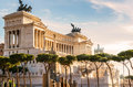 National Monument to Victor Emmanuel II in Rome Royalty Free Stock Photo