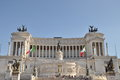 National monument of victor emmanuel ii in rome italy Stock Photos