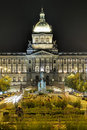National museum in prague at night Royalty Free Stock Photo
