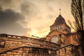 National museum szczecin sunset poland Royalty Free Stock Photos