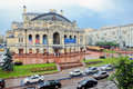 National opera of ukraine in kiev house named after taras shevchenko Stock Images