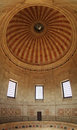 National Pantheon dome and interior upper balcony in Lisbon Royalty Free Stock Photo