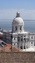 National pantheon lisbon portugal the Royalty Free Stock Photo