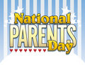 National Parents Day Logo Type 2 Stock Photos