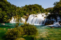 National park krka and cascade of waterfalls on river krka croatia Stock Images