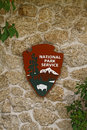 National park service sign the is a united states federal agency that manages all parks many monuments and other properties with Royalty Free Stock Photo
