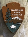 National park sign of the service this was taken at scotts bluff np Royalty Free Stock Images