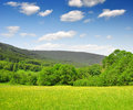National park sumava spring landscape in the czech republic Royalty Free Stock Images