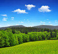 National park sumava spring landscape in the czech republic Royalty Free Stock Photography
