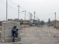National police firefight baghdad iraq hour iraqi and us adviser take positions south west Stock Image