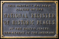 National Register of Historic Places Sign Plaque Royalty Free Stock Image