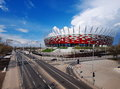 National Stadium in Warsaw, Poland Royalty Free Stock Photography