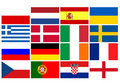 National team flags European football championship Royalty Free Stock Photo