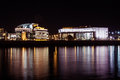 National theater of hungary by night Royalty Free Stock Photo