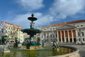 National theatre dona maria ii lisbon portugal portuguese teatro nacional is a neo classical style theater at rossio square in Royalty Free Stock Photography
