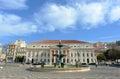 National theatre dona maria ii lisbon portugal portuguese teatro nacional is a neo classical style theater at rossio square in Stock Image