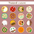 National traditional thai food thailand asian plate cuisine seafood prawn cooking delicious and hot ingredient dinner