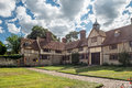 National trust ightham mote medieval manor house the in kent uk is amazing th century moated located miles east of sevenoaks it is Stock Image