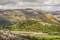 National Wallace Monument seen from the Stirling Castle Royalty Free Stock Photo