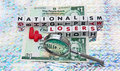 Nationalism is for losers Royalty Free Stock Photo
