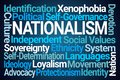 Nationalism Word Cloud Royalty Free Stock Photo