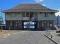 Nationell kustbevakning harbour security building på port louis mauritius Royaltyfria Bilder