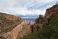 Nationella park s kant ljusa angel trail för az tusen dollar kanjon Royaltyfri Foto