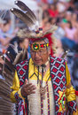 Native american barona california aug man takes part at the barona rd annual barona powwow in california on august pow wow is Royalty Free Stock Image