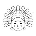 Native American character icon