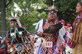 Native american dancers at pow wow glen oaks ny usa july annual queens county farm museum Stock Image