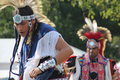 Native american dancers at pow wow glen oaks ny usa july annual queens county farm museum Stock Images