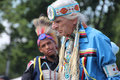 Native american dancers at pow wow glen oaks ny usa july annual queens county farm museum Stock Photography