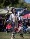 Native American Dancing at Powwow Royalty Free Stock Photo