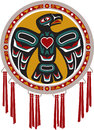 Native American Drum with Eagle Royalty Free Stock Photo